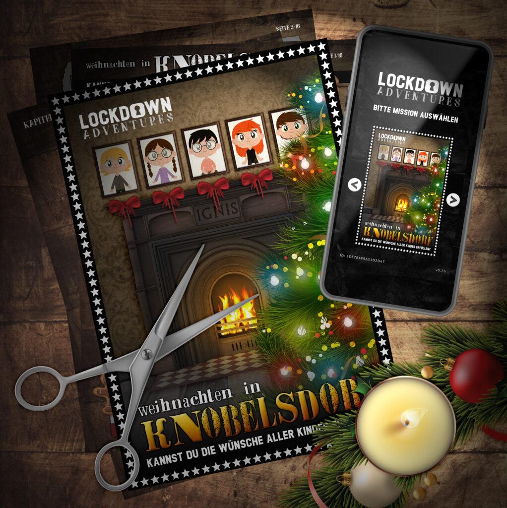 weihnachten escape room rätsel puzzle weihnachtsspiel knobelsdorf lockdown adventures